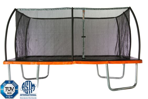 """Jump Power """"ASTM Safety Approved"""" 15' x 10' Rectangle Trampoline with Patented…"""