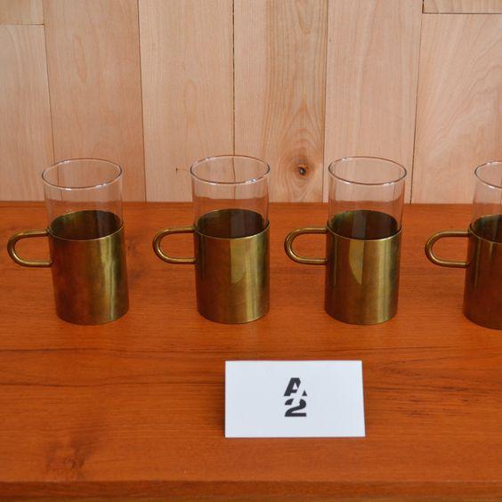 Mid-Century Modern - Ensemble de 4 tasses