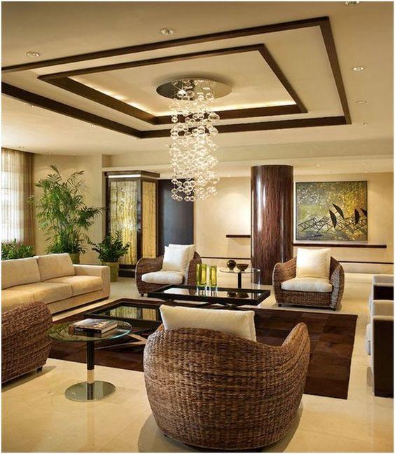 False Ceiling Design For L Shaped Living Room