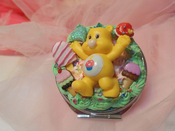 Kawaii Cute Decoden Care Bear Compact Mirror by Fangirl505 on Etsy