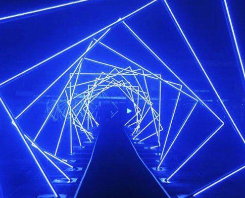 Holiday Lights Led Strip Light Tunnel For Sale Yandecor In 2020 Light Tunnel Led Strip Lighting Strip Lighting