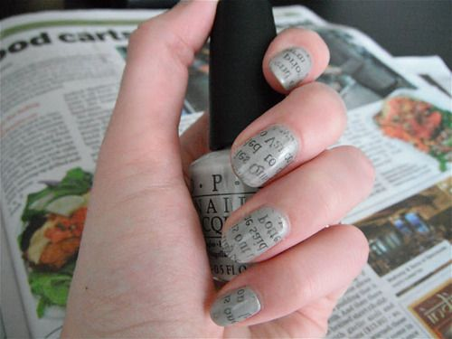 Newspaper Nails!
