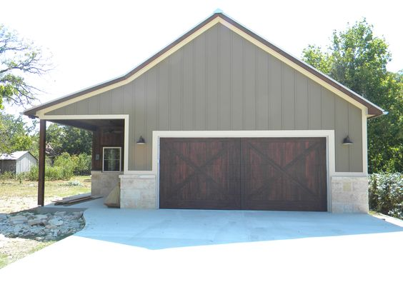 Flush doors doors and barns on pinterest for Garages that look like barns
