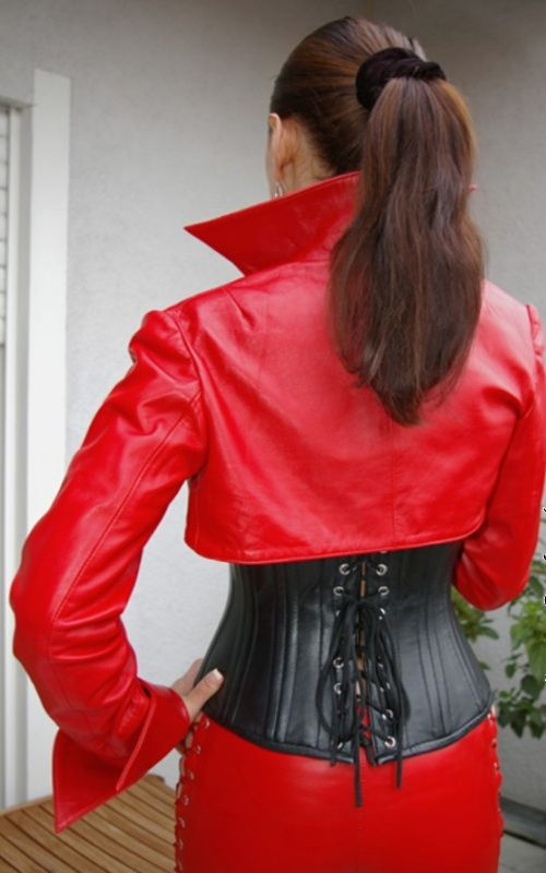 Red and black Leather Combo