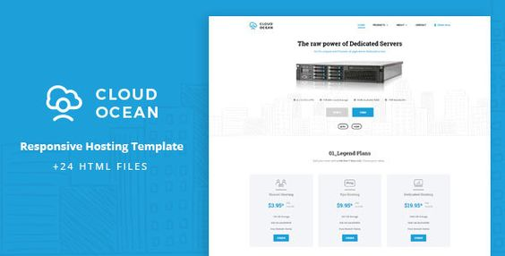 CloudOcean - Responsive Hosting Template  -  http://themekeeper.com/item/site-templates/cloudocean-responsive-hosting-template