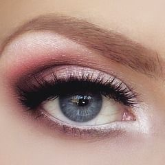 Rosy pink makeup - love it!