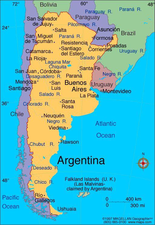 Argentina Argentina Pinterest Argentina Visit Argentina And - Argentina map in spanish