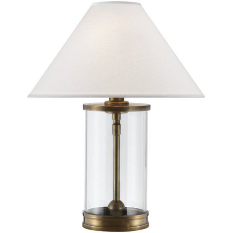 Modern Accent Lamp In Natural Brass New Arrivals Lighting Products Ralph Lauren Home Ralphlaurenhome Com Table Lamp Lighting Lamp Natural Table Lamps