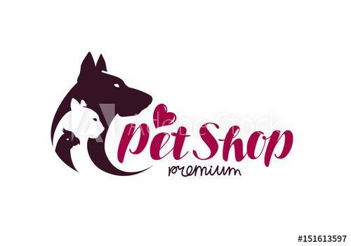Pet Shop Logo Animals Cat Dog Parrot Icon Vector Illustration In 2021 Pet Shop Logo Pet Shop Logo Design Pet Shop