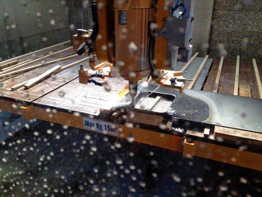 La fresa a ponte Breton Smart-Cut 550 OPTIMA realizza piani cucina!!! ~ il laboratorio del marmista