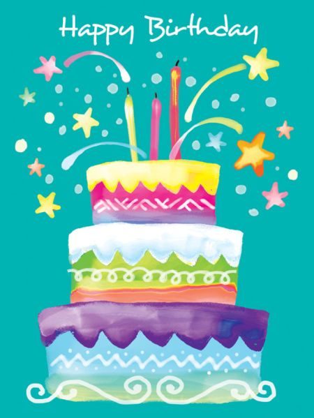As Colourful,Zany,And Full Of Fun Is This Cute Cake With Tons Of Fireworks! Happy Birthday To You,Sweetie Pie!!!!!-Divalousity .