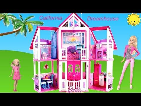 Barbie California Dreamhouse Unboxing Assembly House Tour Dolls Toy Play Life In The Dreamhouse Youtube Barbie Malibu Dream House Doll Toys Play Barbie