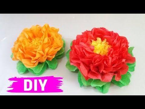 Cara Mudah Membuat Bunga Dari Kertas Krep Youtube Bunga Kertas Ide Kerajinan Bunga