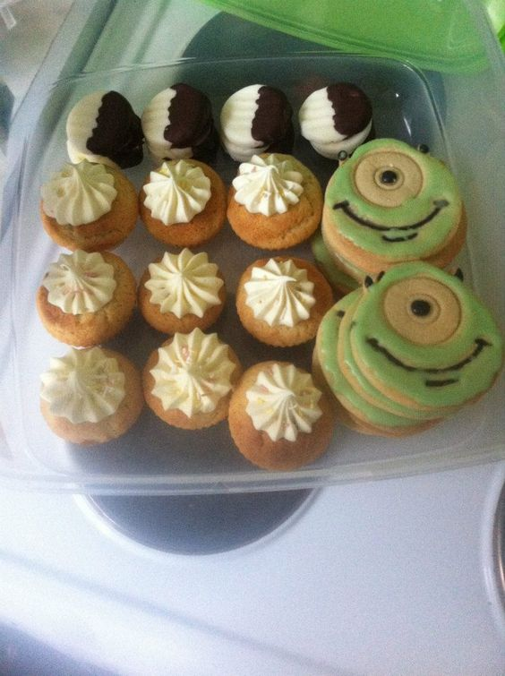 Chocolate mint creams, cupcakes and Mike Wasowski cookies