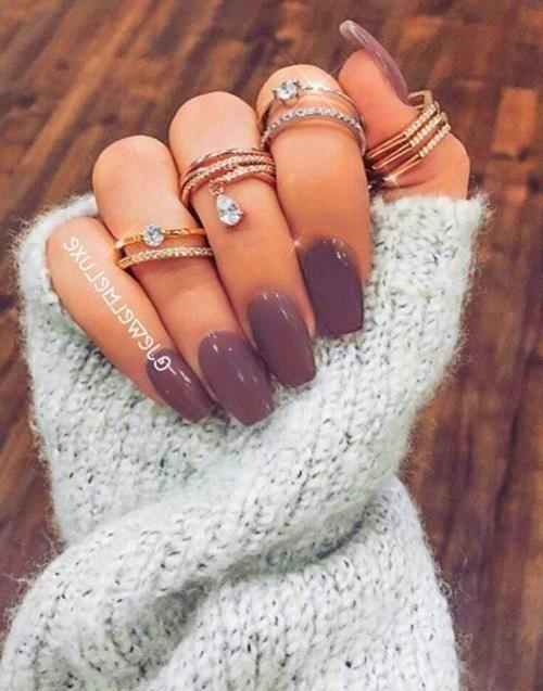 Fall Nails Acrylic Neutral Nails Acrylic Pink Manicure Winter Nails Acrylic