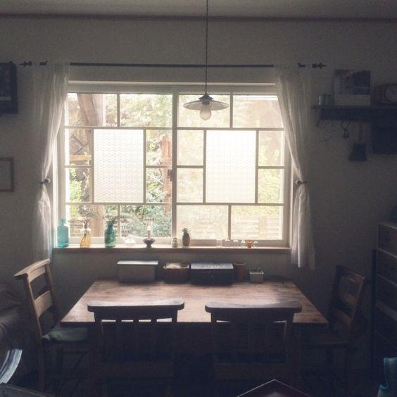 kaoさんの、アンティーク,収納,パン型,カフェ風,JUNK,懐かしい風景,レトロ,男前,ダイニングテーブル,学校モノ,チャーチチェア,Lounge,のお部屋写真