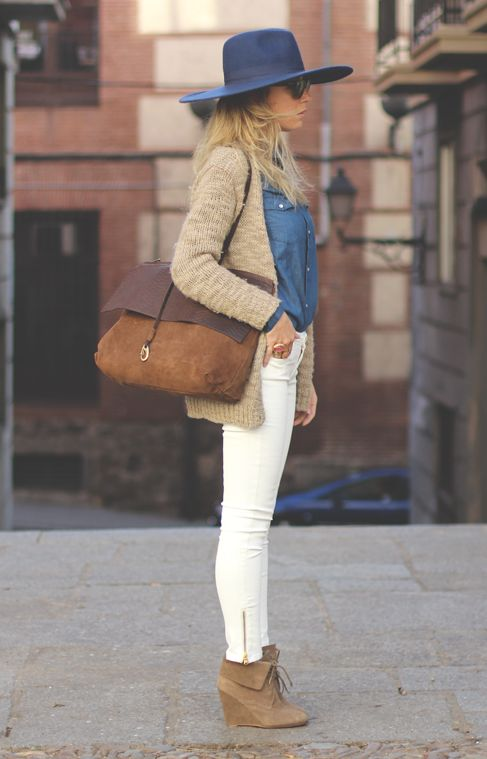 Wedged ankle boots make a great fall fashion staple