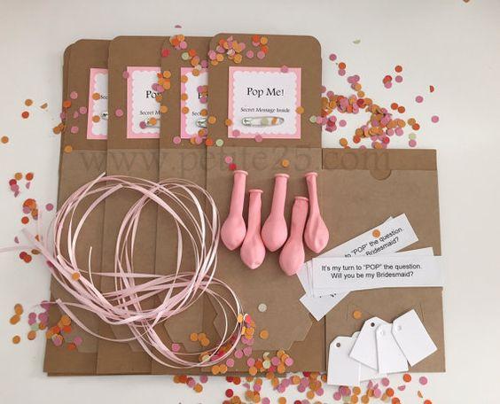 One 1  DIY Pop the Balloon kit secret message inside by Petite25