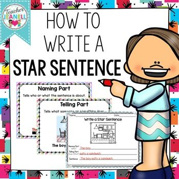 FREE - Students will practice sentence structure with these picture prompts of kids doing a variety of things. Students will write the naming part, the telling part, and then combine both parts to write a simple sentence.