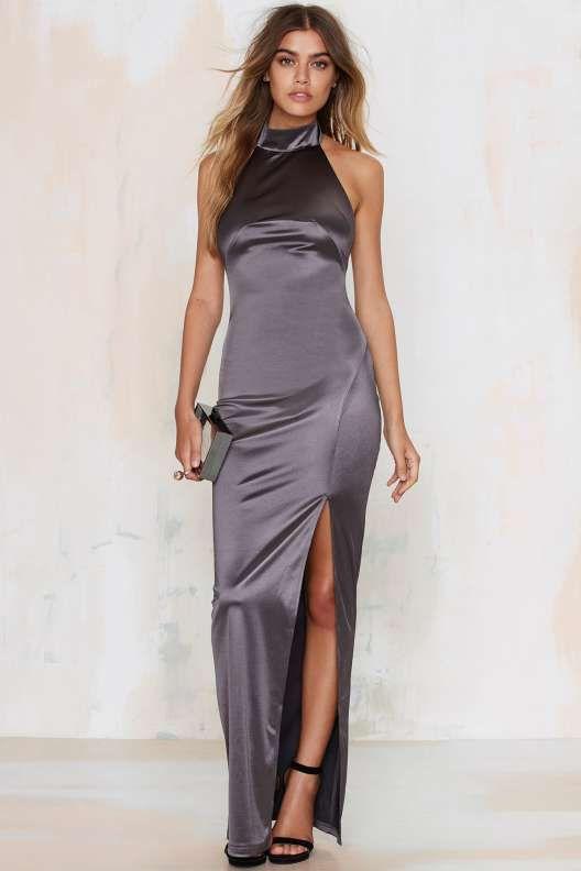 Sleekin&-39- Out Satin Maxi Dress - Thanks- It&-39-s New - Pinterest ...
