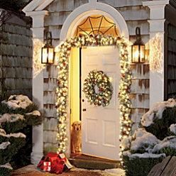 Doorway Elegant Christmas Garlands Outdoor Holiday