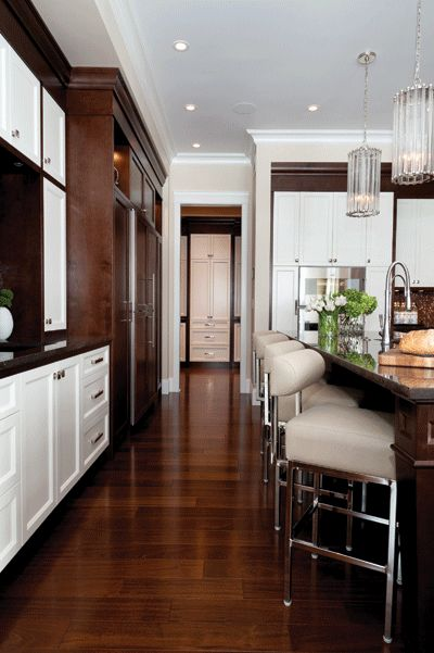 Mahogany Wood Colour Scheme ~ The white dark brown and cabinets on pinterest