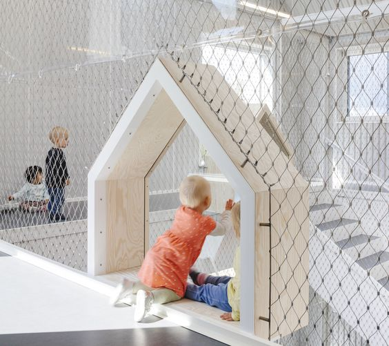 """COBE designs a tiny light-filled """"village"""" for children in ..."""