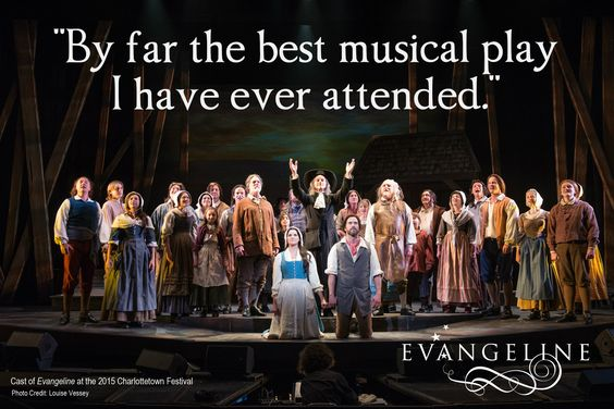 "From the Confederation Centre's ""Let Us Know"" surveys.  The cast of Evangeline at the 2015 Charlottetown festival."