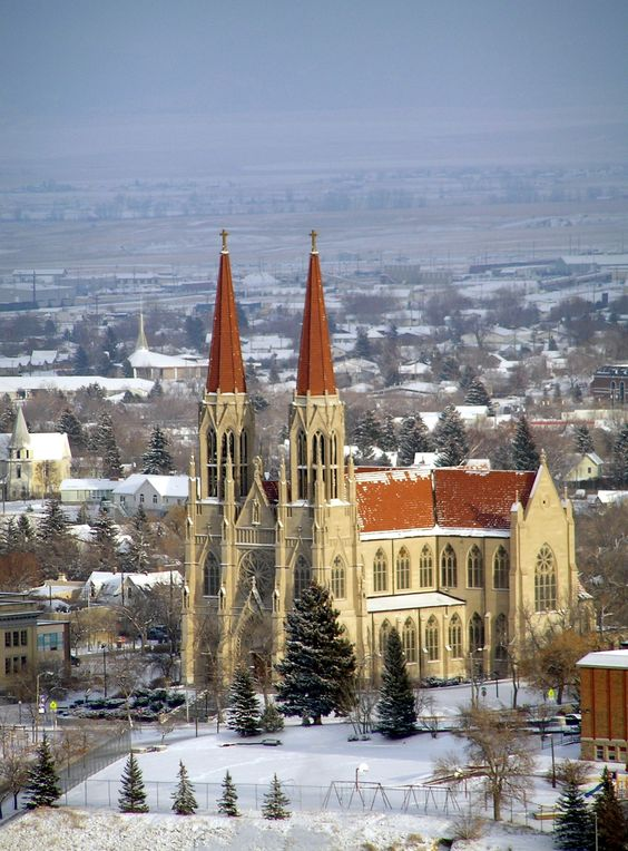 Cathedral of Saint Helena ~ Helena, Montana.  It's always a treat to go to Mass in such a beautiful Cathedral.