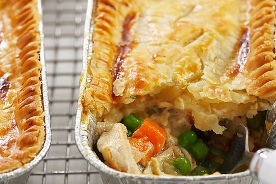 Make ahead and freeze individual chicken pot pie recipe