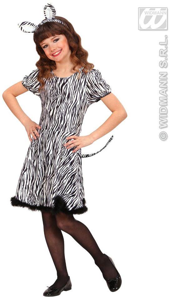 Dress Zebra Kostuum Meisje ==> Feestwinkel XL!