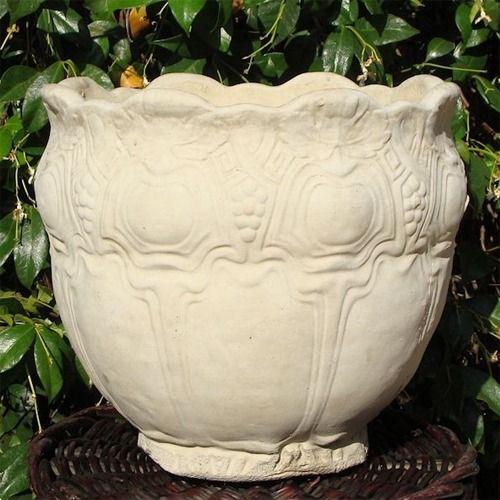 Concrete Vintage Round Flowerpot Flower Pots Decorative Planters Concrete Garden