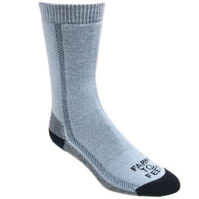 Farm to Feet Socks: Women's 8592 450 Blue Madison Crew Hiking Socks