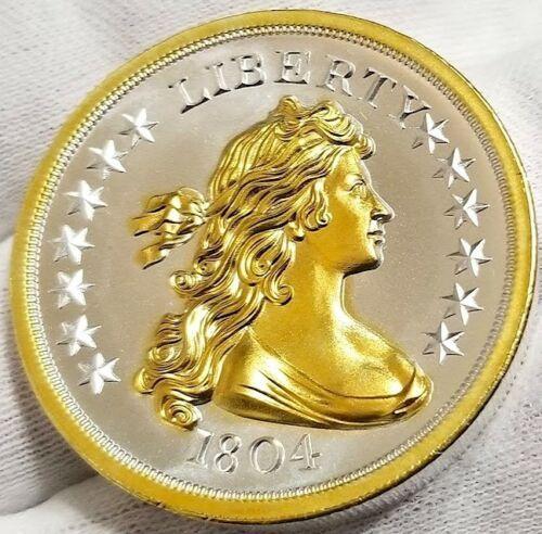 Bullion 1804 Silver Dollar 2 Oz 999 Pure Silver Coin 24k Gold Gilded A Silver Coins Silver Dollar Pure Silver