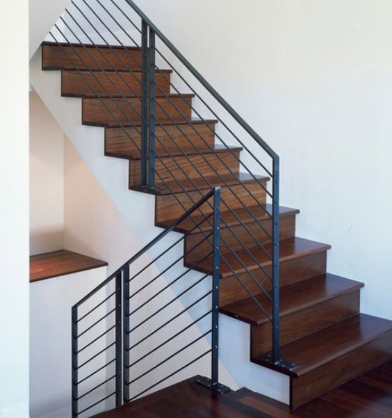 Industrial Metal Staircase Design: Modern Handrail Designs That Make The Staircase Stand Out