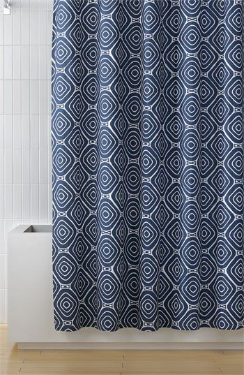 Cool geo-square shower curtain
