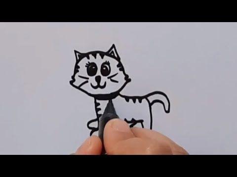 رسم قطة كرتون سهل وبسيط رسم سهل للاطفال Kids Draw How To Draw Cartoon Kitten Step By Step Youtube Cartoon Drawings Cute Cartoon Drawing For Kids