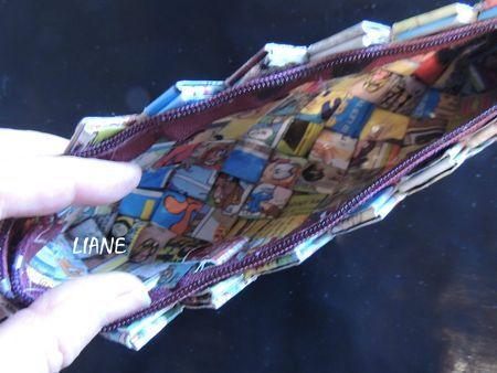 Trousse d'écolier papier recyclé. Création et Réalisation LIANE