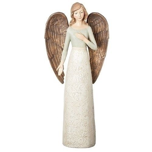 Roman 175h Large Ivoryblue Angel Find Out More About The Great Product At The Image Link Xmascollectiblefigurines Damask Angel Ivory