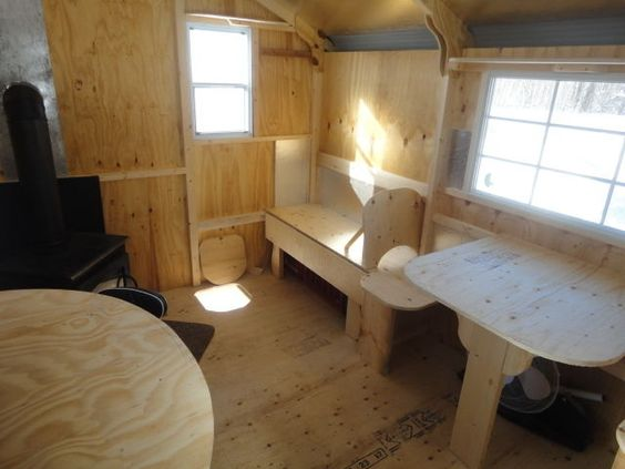 Kijiji new 8 39 x12 39 ice huts with optional interiors ice for Hunting hut plans