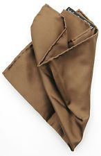 Available now for $19.99  is this New ITALO FERRETTI Italy Brown Silk Pocket Square Handkerchief MSRP $100!