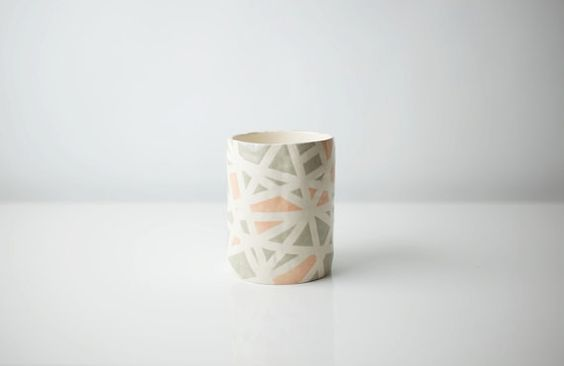 graphic cup from a fave ceramicist - Up in the Air Somewhere. via @Design*Sponge