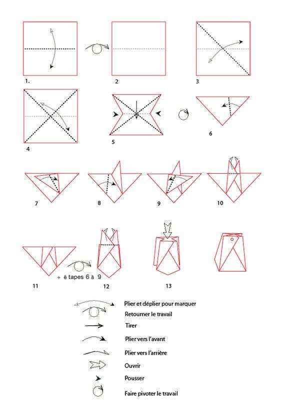 Papier origami sacs and sacs en papier on pinterest - Pliage papier cadeau ...