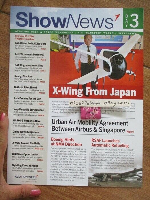 2020 Aviation Week Space Technology Magazine Air Transport World Sg Airshow Feb In 2020 Technology Magazines Air Show Aviation World