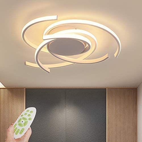 Led Plafonnier Dimmable Salon Lampe Luminaire 72w Moderne Avec Telecommande Chic Metal Acrylique Lampe De Plafond L Luminaire Plafond Plafonnier Lustre Chambre