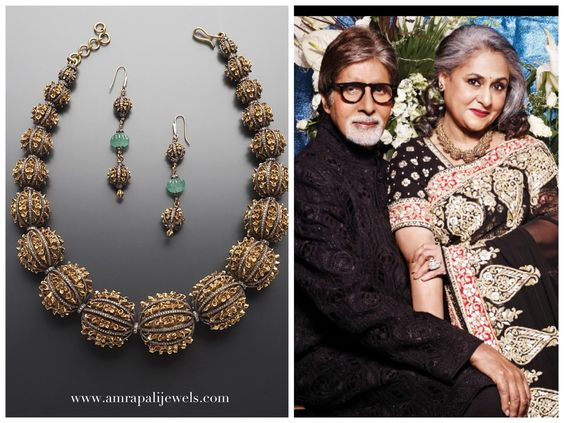 Gold beads with diamond from Amrapali