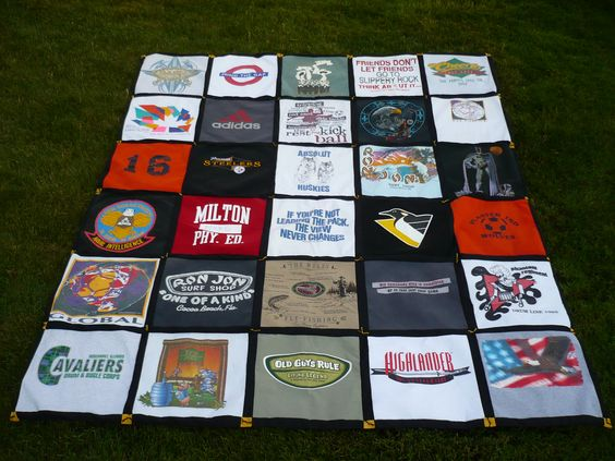 Front of Jason's T-Shirt Quilt