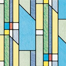 Walmart: Brewster Geometrics Peel and Stick Window Film 9.69