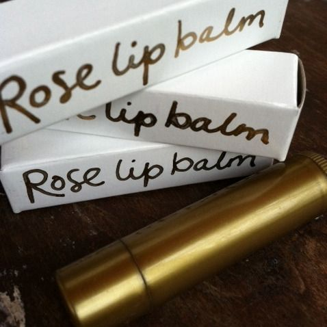 rose lip balm (pretty packaging)