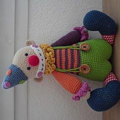 Lucky le clown rigolo fait en coton